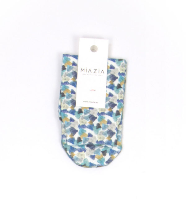 Deep Blue patterned bandless socks