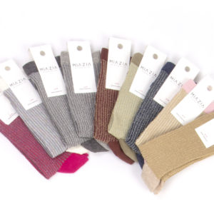 Pack of colorful glittered socks for women