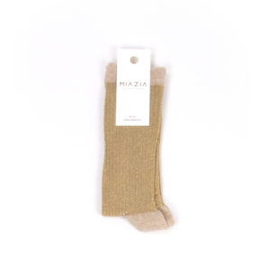 Pair of gold glittered socks for women
