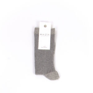 Pair of light grey glittered socks for women