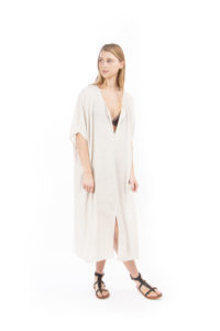 Long beach dress beige