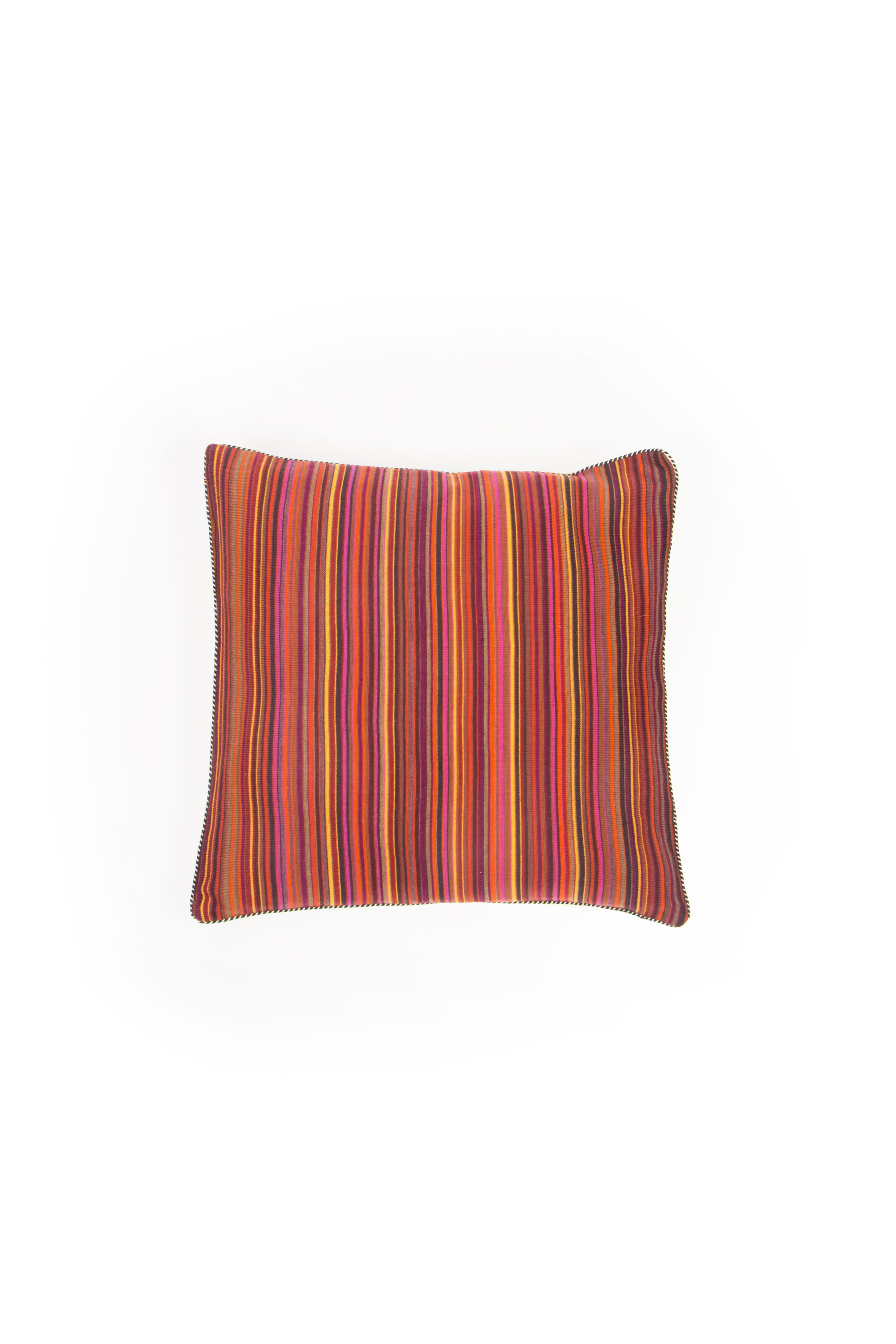 Knitted cushion with stripes - Bacci