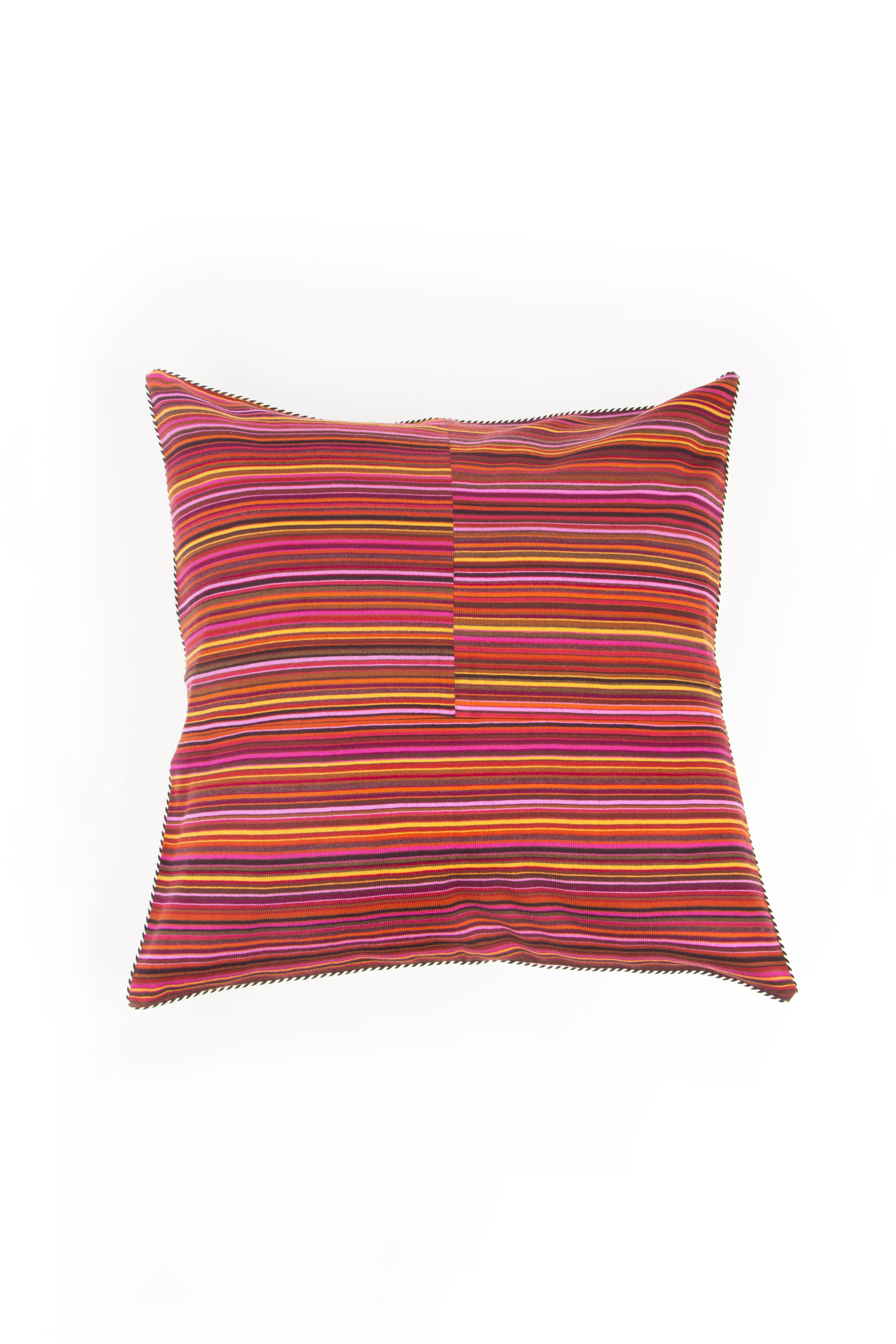 Knitted cushions with stripes Bacci