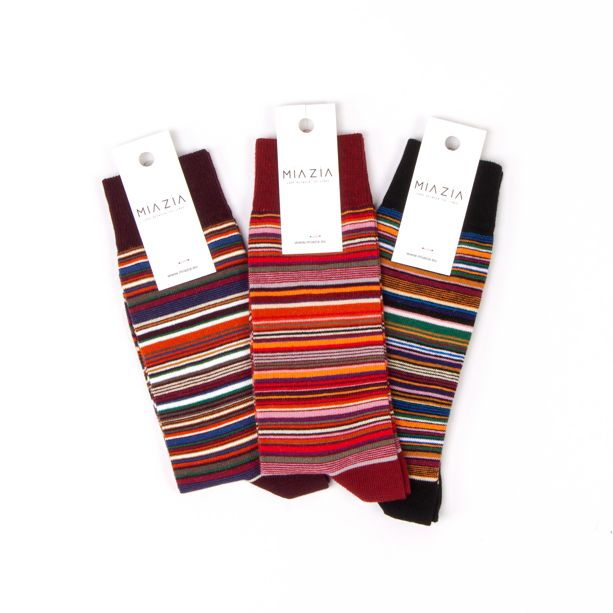 Socks with stripes for women