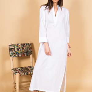 White long cotton dress