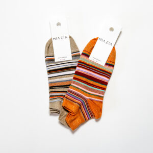 Sneakers socks Beige & Orange